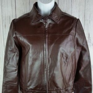 MNG by Mango Genuine Leather Womans Jacket